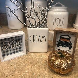 """Rae Dunn """"cream"""" container"""